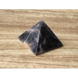 Fekete holdkő ásvány piramis 5cm