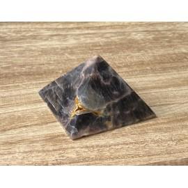 Fekete holdkő ásvány piramis 7cm