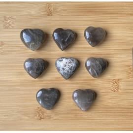 Fekete holdkő ásvány szív