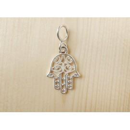 Hamsa (Fatima keze) ezüst medál