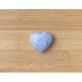 Kék kalcit szív ásvány 4cm
