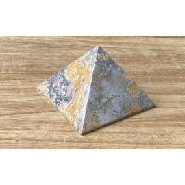 Óceán jáspis ásvány piramis 9cm