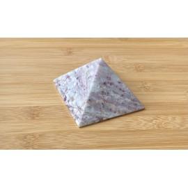 Rubellit kvarc ásvány piramis