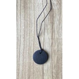 Sungit ásvány medál Életvirág 3cm