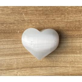 Szelenit ásvány szív 7-8 cm